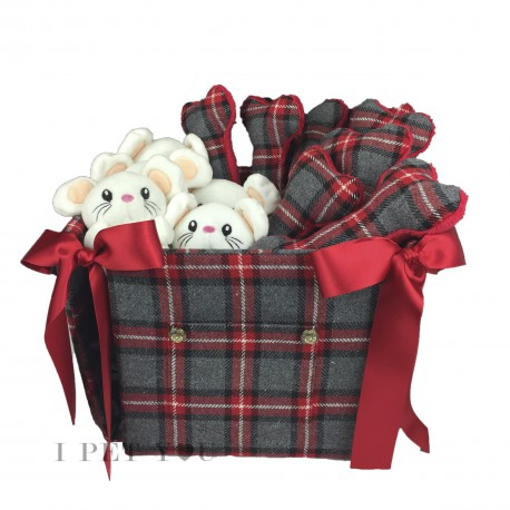 Tartan Red Toy Basket - Limited Edition