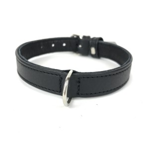 BASIC LEATHER COLLAR BLACK