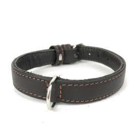 BASIC LEATHER COLLAR BROWN