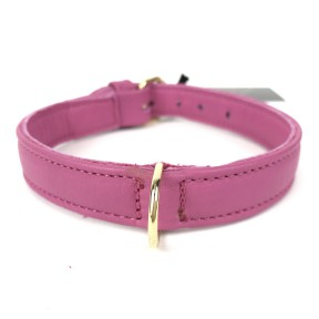 BASIC LEATHER COLLAR FUXIA