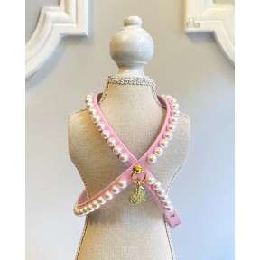 PEARLS HARNESS PINK